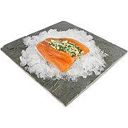 Central Market Stuffed Salmon Rockefeller