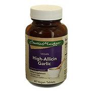 Central Market Vegan High-Allicin Garlic 500 mg Vegan Tablets
