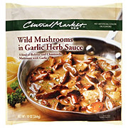 Central Market Wild Mushrooms in Garlic Herb Sauce