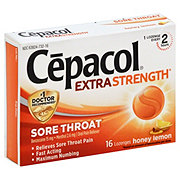 Cepacol Sore Throat Oral Pain Reliever Honey Lemon Lozenges