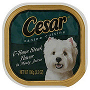Cesar Canine Cuisine T-Bone Steak Flavor In Meaty Juices
