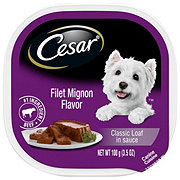 Cesar Classics Filet Mignon Flavor in Meaty Juices Wet Dog Food