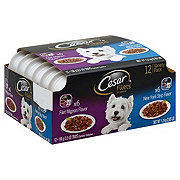 Cesar Filets in Sauce New York Strip & Filet Mignon Wet Dog Food Variety Pack