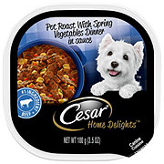 Cesar Home Delights Dog Dinner Pot Roast with Vegetables