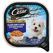 Cesar Limited Edition Glazed Ham Flavor with Diced Potatoes in Gravy Wet Dog Food