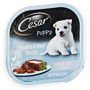 Cesar Puppy Canine Cuisine With Chicken And Beef In Meaty Juices