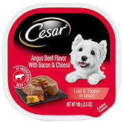 Cesar Savory Delights Angus Beef with Bacon & Cheese Dog Food