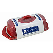 CHANTAL Red 8.5 Inch Butter Dish
