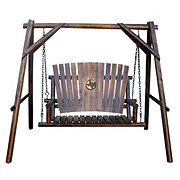 Char-Log 4 Foot A-Frame Swing with Texas Map Medallion