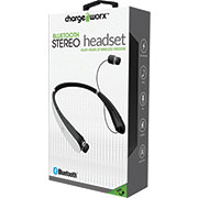 Chargeworx Bluetooth White Retractable Neck Headphone