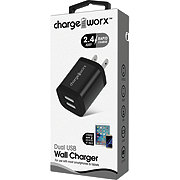 Chargeworx USB Wall Charger Black
