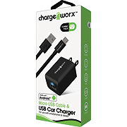 Chargeworx USB Wall Micro Black Android