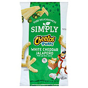 Cheetos Puffs Simply White Cheddar Jalapeno Cheese Flavored Snacks