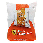 Cheetos Simply Puffs White Cheddar Cheese Flavored Snacks Multipack