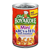Chef Boyardee Mini ABC's and 123's with Meatballs