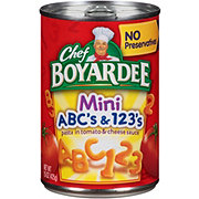 Chef Boyardee Mini-Bites ABC's and 123's Sauce
