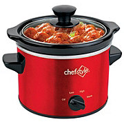 chefstyle 2 Quart Red Slow Cooker