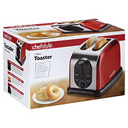 chefstyle 2 Slice Toaster, Metallic Red