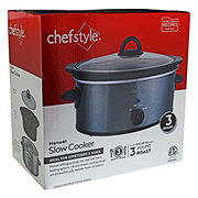 chefstyle 3 Quart Slow Cooker Slate