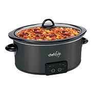 chefstyle 4 Quart Grey Programmable Slow Cooker