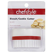 chefstyle Biscuit/Cookie Cutter, Set of 3