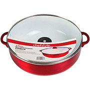 chefstyle Ceramic Nonstick Cauldron with Glass Lid