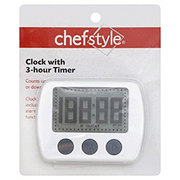 chefstyle Clock with 3-Hour Timer