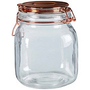 chefstyle Copper Top Glass Jar