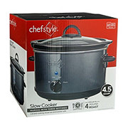 chefstyle Gray Manual Slowcooker