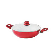 chefstyle Metallic Red 3 QT Non-Stick Ceramic Coated Everything Pan