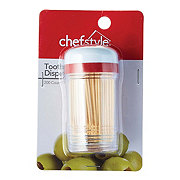 chefstyle Plastic Toothpick Dispenser with Toothpicks