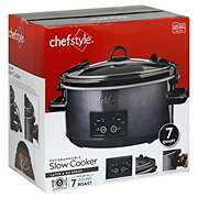 chefstyle Programmable And Lock Slow Cooker Gray
