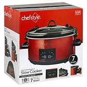 chefstyle Programmable And Lock Slow Cooker Red