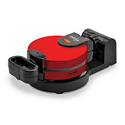 chefstyle Red Flip-Over Waffle Maker
