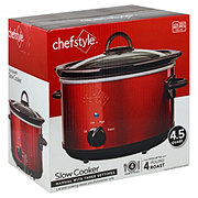 chefstyle Red Manual Slow cooker