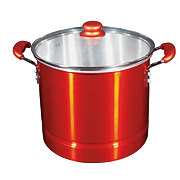 chefstyle Red Metallic Tamale Steamer with Insert