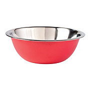 chefstyle Red Stainless Steel Mixing Bowl