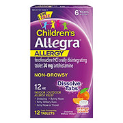 Children's Allegra Children's 12 Hour Allergy Original Prescription Strength Fexofenadine 30 mg Orally Disintegrating Tablets Ages 6 & Older Non-Drowsy Orange Cream Flavor