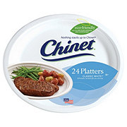 Chinet Classic White 12-5/8 x 10 Inch Polypropylene Plates Value Pack