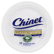 Chinet Classic White Polypropylene Dessert Plates, 6-3/4 Inch