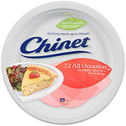Chinet Classic White Polypropylene Lunch Plates, 8-3/4 Inch