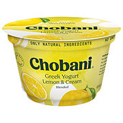 Chobani Lemon & Cream Blended Whole Milk Greek Yogurt