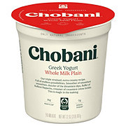 Chobani Original Plain Whole Milk Greek Yogurt