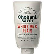 Chobani Savor Whole Milk Plain Greek Yogurt