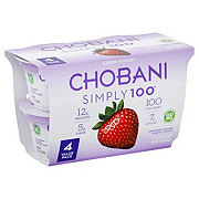Chobani Simply 100 Non-Fat Strawberry on the Bottom Greek Yogurt