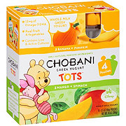 Chobani Yogurt Tots Mango Spinach and Banana Pumpkin