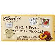 Chocolove Peach & Pecan In Milk Chocolate Bar