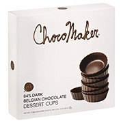 ChocoMaker Belgian Dark Chocolate Dessert Cups