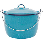 Cinsa Convex 10 Quart Turquoise Kettle with Lid