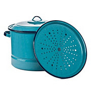 Cinsa Turquoise Steamer Pot with Lid & Trivet